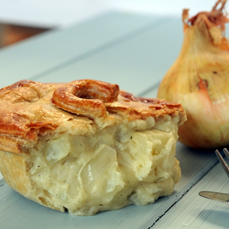Cheese potato and onion pies