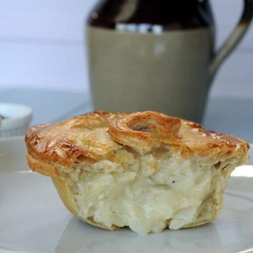Cheese potato and onion pie