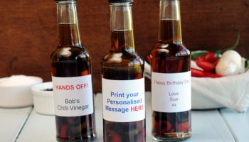 Treat someone to personalised chilli vinegar