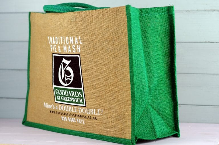 Goddards hessian shopping bag