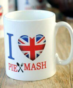 I Love Pie & Mash mug from Goddard's Pies