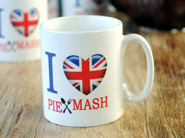 I Love Pie & Mash mug from Goddard's Pies