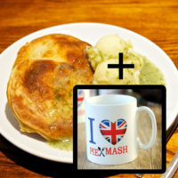 4 pie mash liquor bundle including Goddards pie and mash mug