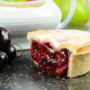 Handmade cherry pie